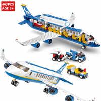 463Pcs City International Flughafen Airbus Flugzeug Flugzeug Flugzeug Bausteine Sets Figuren LegoINGLs Ziegel Spielzeug für Kinder