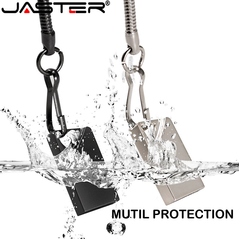 JASTER USB Flash Drives Super Mini Usb Flash Metalen Pen Sleutel Schijf Logo Pendrive Stick Flash 32GB /8 GB/4 GB/16 GB/128 GB