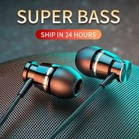 Langsdom Metall Bass Verdrahtete Kopfhörer 3,5 MM In-ohr Kopfhörer mit Mikrofon Hifi Hörer Headset für Telefon Xiaomi Samsung huawei