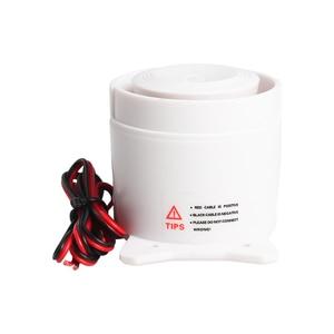 Image 3 - Blanco 120DB DC12V Mini cuerno de sirena con cable inalámbrico sistema de seguridad de alarma para el hogar Accesorios alarma 59cm longitud de línea