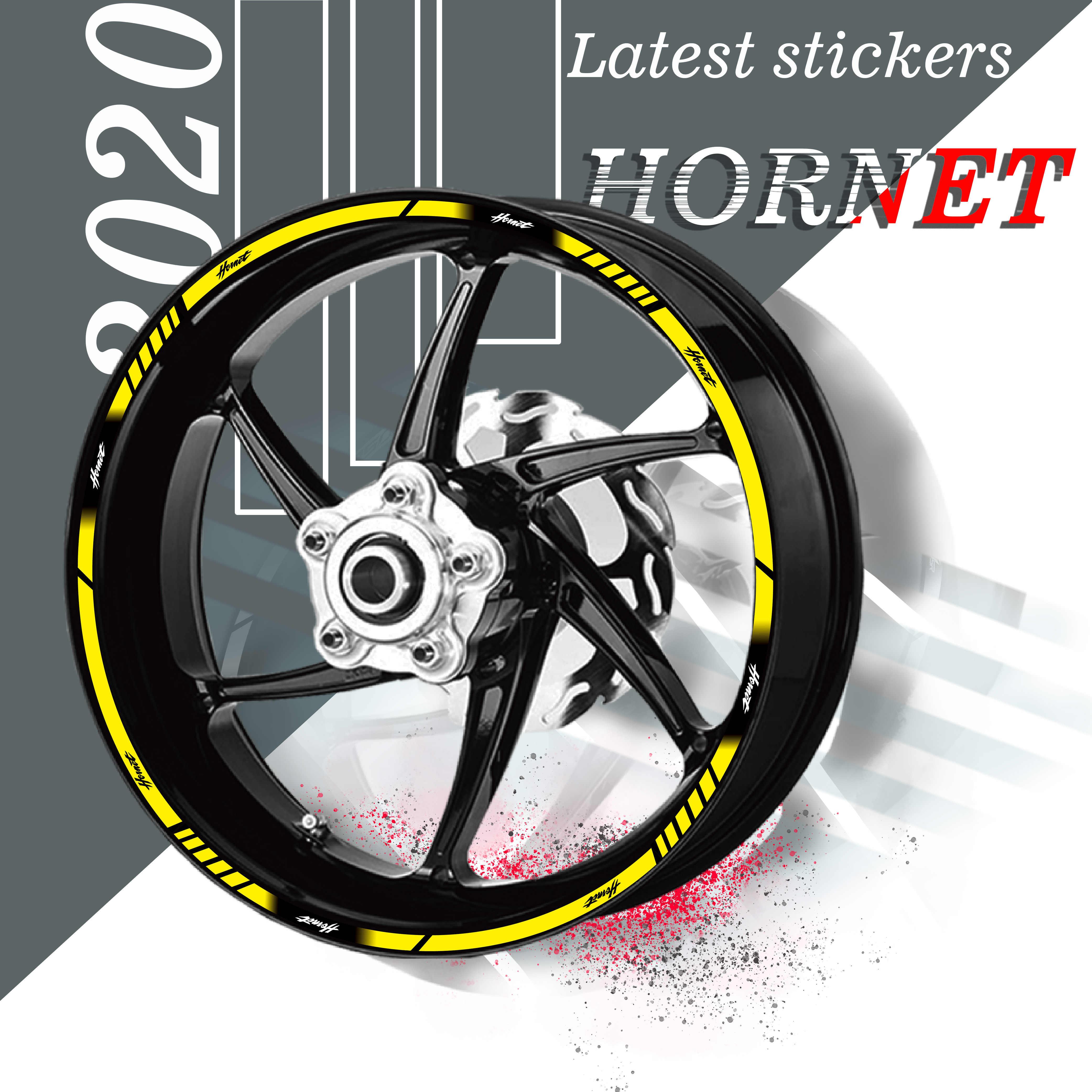 16pcs Fashion whole wheel protector Motorcycle wheel paster For Honda CBR