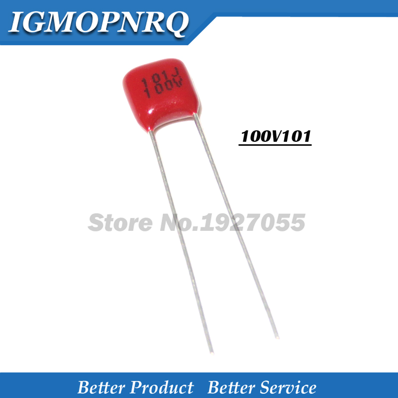 20PCS 100V101J 100V 100PF 100P 100V 101 Pitch 5MM CBB Polypropylene Film Capacitor NEW 100V101-P5