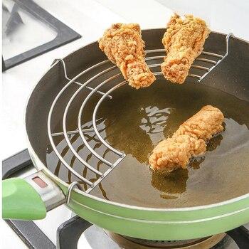 Stainless Steel Shelves Food Cooling Rack Strainer Wok Frying Pan Pot for Fry Drainer Rack Fried Tempura Kitchen Tools