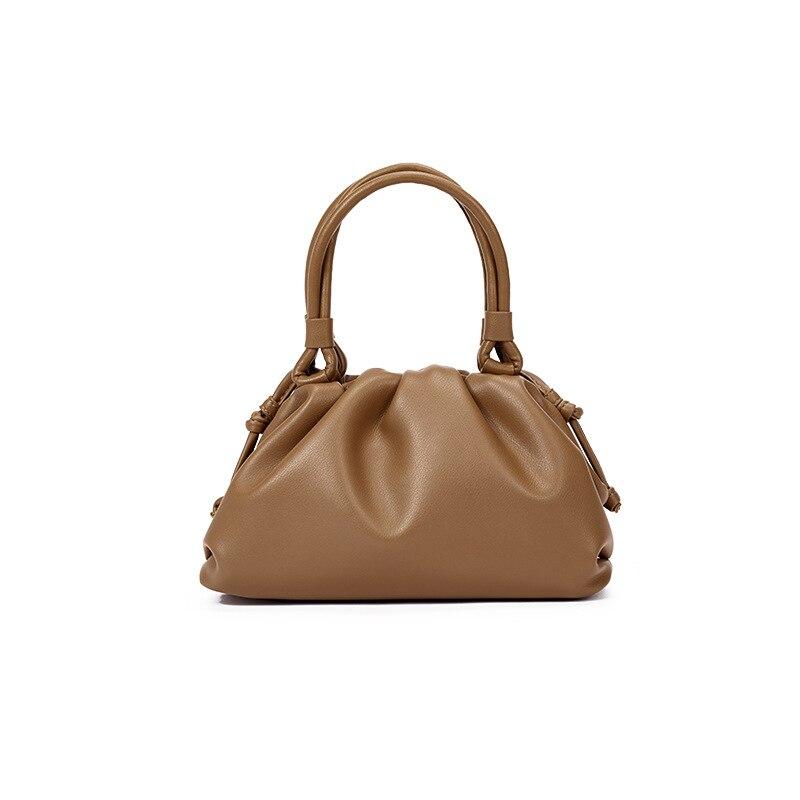 Cloud Bag Female Bag 2019 Autumn and Winter New Fold Single Shoulder Oblique Span Bag Handheld Bucket Bag