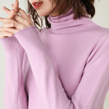 2019 Autumn and Winter New Cashmere Sweater Women High Collar Pullover  Sweater  Pullover Knitted Wool Sweater  свитер женский цена
