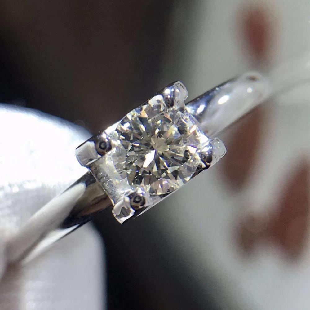 Bague diamants bijoux fins or 18K véritable diamant blanc naturel 0.302ct diamants fins femmes bagues pour femmes bague diamants fins