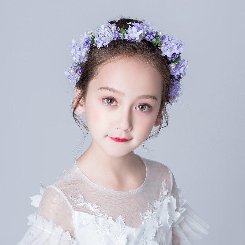 Детский головной убор Венок для маленьких девочек Цветочная принцесса Мори корейские аксессуары для волос для выступлений