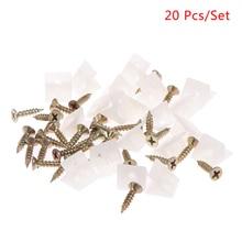 20Pcs/Lot 45 Degree Angle Plastic Corner Bracket Block For Furniture Closet Back Panel W/ Screws