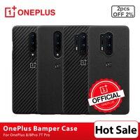 OnePlus-funda protectora Original para móvil, carcasa trasera de nailon/Nailon/Karbon, para OnePlus 8 Pro 7 7T Pro