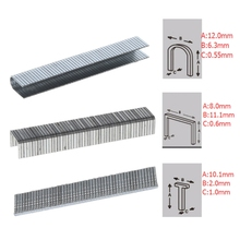 1000 Pcs U/Door/T Shaped Staples 12x6.3mm Nails For Staple Gun Stapler