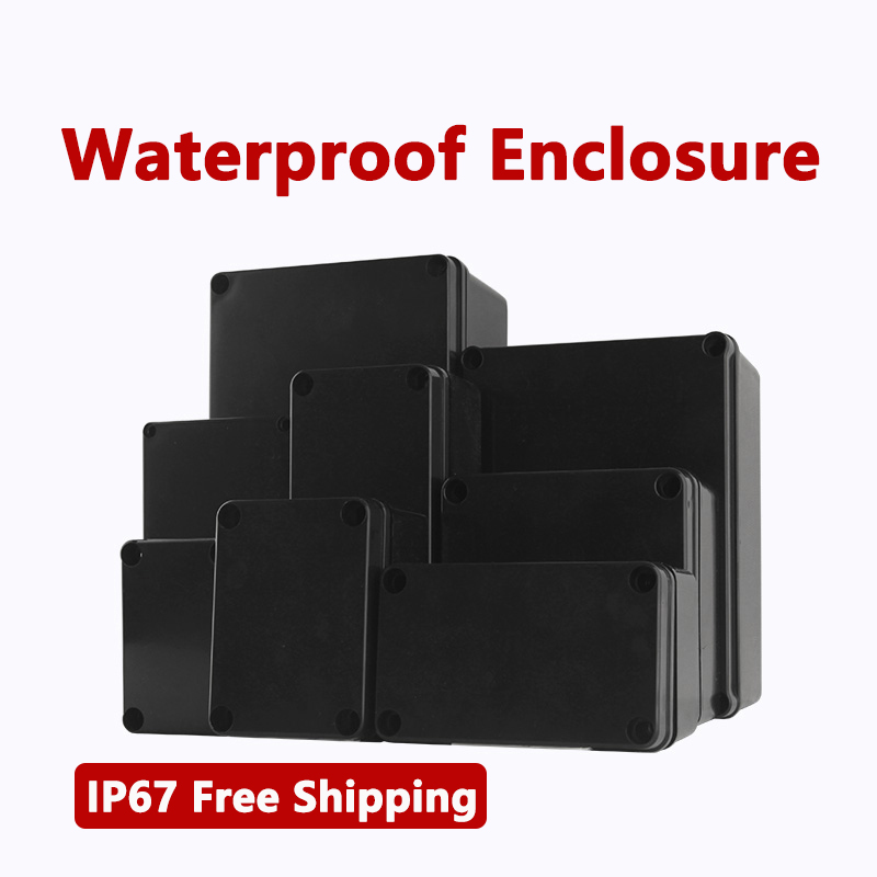 Plastic Boxes Black Wire Junction Box IP67 Waterproof Enclosure ABS Waterproof Box Electronic Safe Case Plastic Organizer