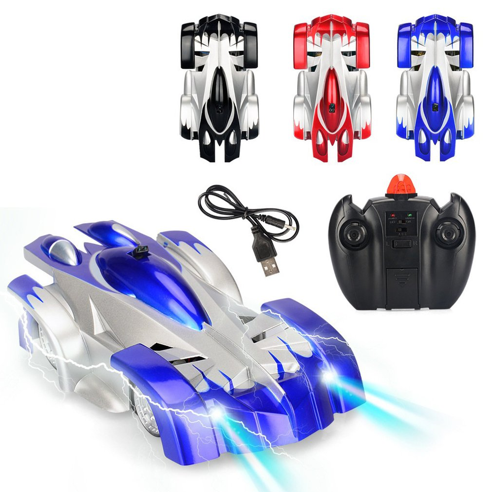 New Wall Climbing Cars Remote Control RC Racing Car Anti Gravity Ceiling Rotating Stunt Electric Toys for Wholesale