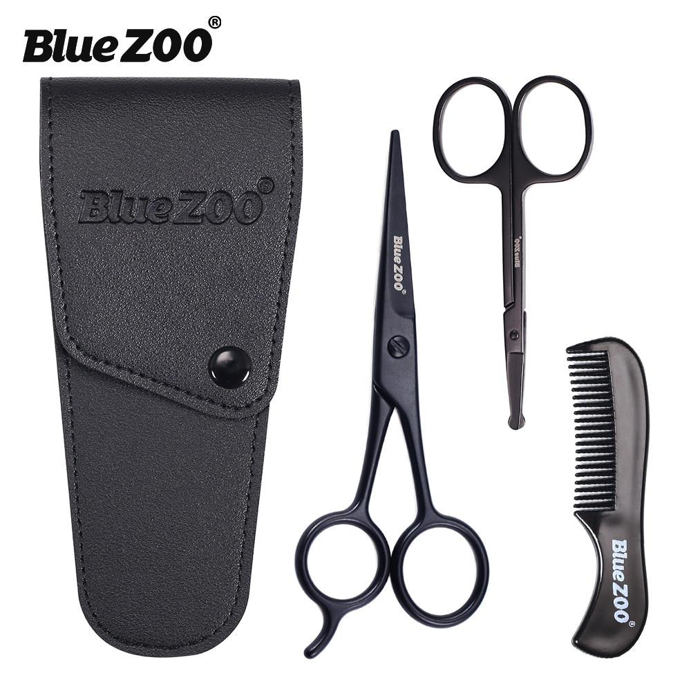 3pieces-kit barba bigode scissor e pente conjunto