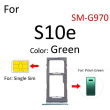Sim Card Tray Socket Slot Reader Adapter For Samsung Galaxy S10e G970 Micro SD Card Holder Connector Container Replacement Parts