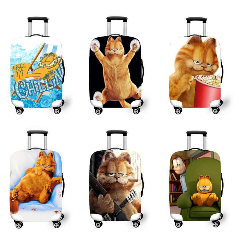 Elastische Bagage Beschermhoes Case Voor Koffer Beschermhoes Trolley Gevallen Covers 3D Reizen Accessoires Kat Patroon T1111