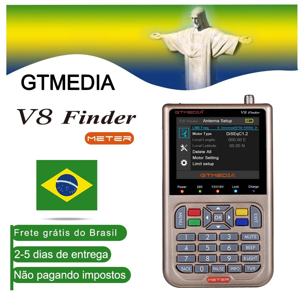 [Brazil]GTMEDIA V8 Finder DVB-S2/S2X Digital Satellite Finder High Definition 1080P HD ACM Sat Finder Meter With 3000mA Battery