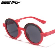 Kids Sunglasses Uv-Protection Eyewear Goggle Classic Round Children Fashion Girls Seemfly