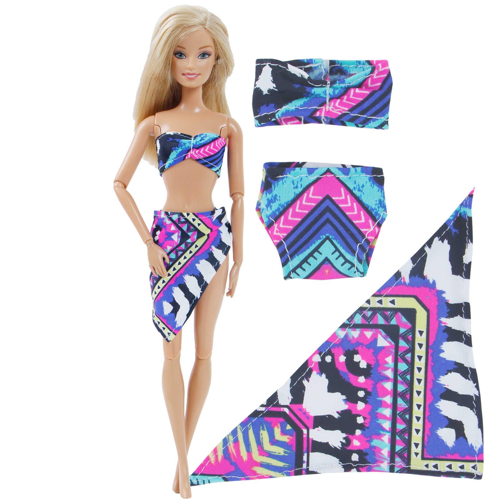 Handmade Lady ชุดว่ายน้ำชายหาดสวมชุดว่ายน้ำเซ็กซี่บิกินี่ Tops กางเกงเสื้อผ้าสำหรับตุ๊กตาบาร์บี้ตุ๊กตาอุปกรณ์เสริมของเล่นเด็ก