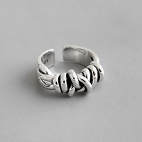 Real 925 Sterling Silver Ring Women 2019 Geometric Retro Vintage Silver Rings For Women Jewelry anillos plata 925 para mujer