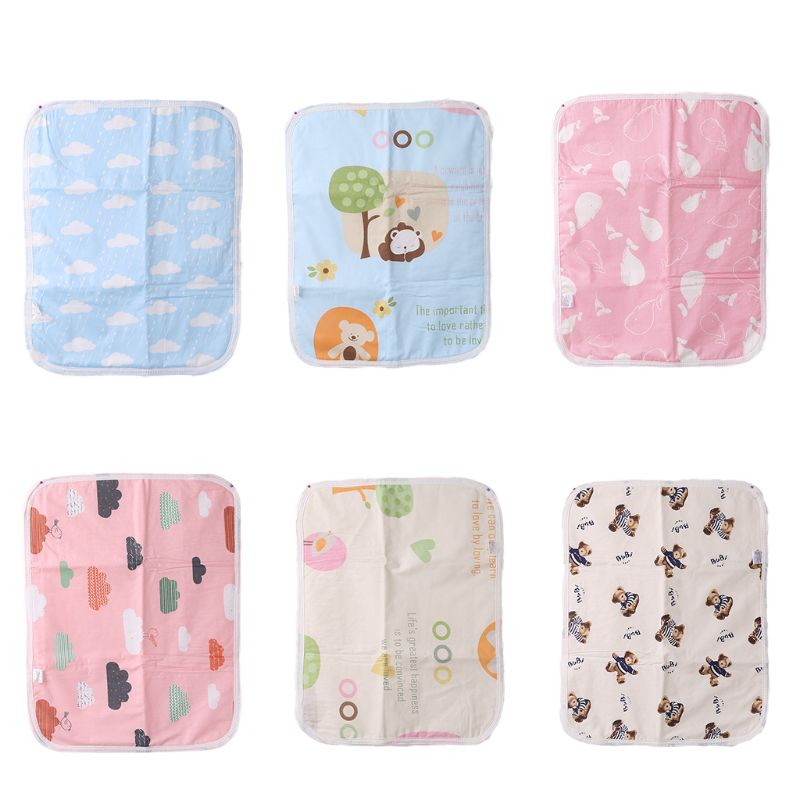 Waterproof Cartoon Patterns Baby Stroller Cushion Bed Cover Diaper Pad Absorption Mat Kids Sleeping Mattress Pram Accessories