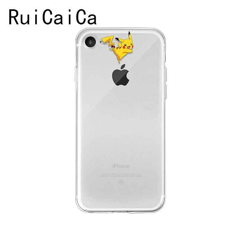 Hoạt Hình Pokemons Eevee Pika Pikachu TPU Cao Su Mềm Ốp Lưng Điện Thoại Cho iPhone 5 5Sx 6 7 7 Plus 8 8Plus X XS Max XR