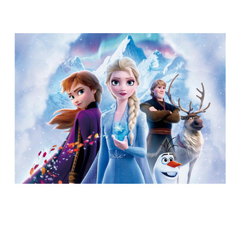 Frozen Elsa Princess Party Backdrops Curtain Photobooth Backdrop Cloth Childrens Birthday Wall Decorations 125x80cm