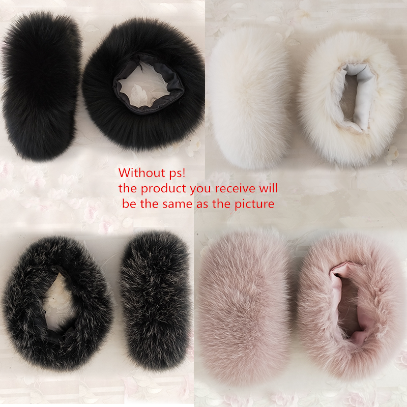 New New Women Winter Windproof Cuff Real Fur Wristband Plush Wrist Fox Fur Cuffs Genuine Fox Fur Cuff Arm Warmer Lady Bracelet