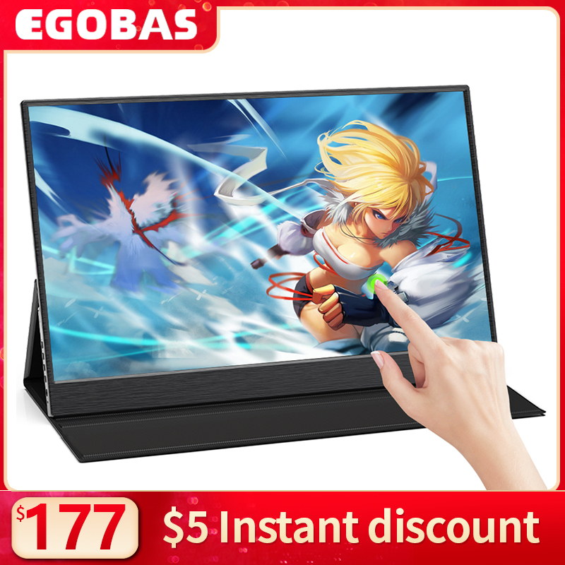 15.6inch Portable Monitor Touchscreen IPS 1080P HDR Gaming Monitor USB C HDMI-compatibe for Switch Smartphone Laptop PS4 XBOX