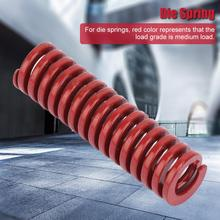 2pcs/set OD 10mm ID 5mm High Accuracy Steel Red Medium Load Mould Die Spring