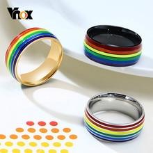 Vnox – bague unisexe en acier inoxydable pour hommes et femmes, bijou de doigt, taille américaine, 7-12