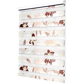 Fashion Printed Double Layer Zebra Blinds Window Roller blinds Living room Bedroom Day night blinds Custom size