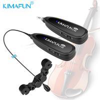 KIMAFUN KM G150 6 2.4G Mini Wireless Professional Musical Instrument Condenser Microphone System for Violin