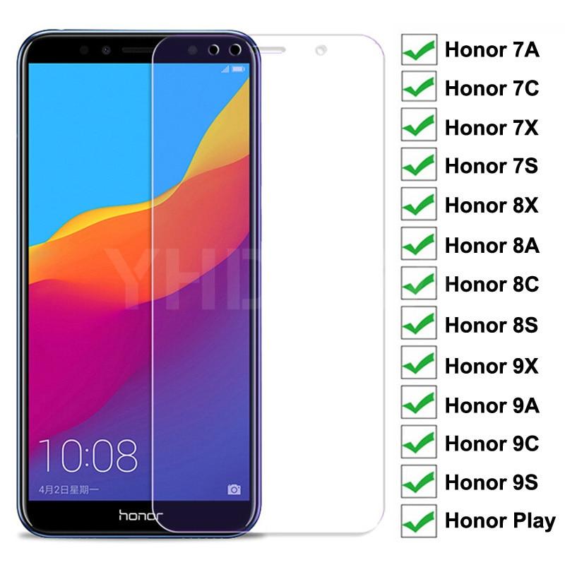 Защитное стекло с полным покрытием 9H для Huawei Honor 8X 8A 8C 8S, закаленное стекло для Honor 7A, 7C, 7X, 7S, 9X, 9A, 9C, 9S Play, защита экрана