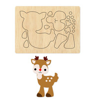Christmas Deer Baby new wood DIY moulds die cut accessories for Leather paper felt Steel Punch leather crafts Wood laser dies