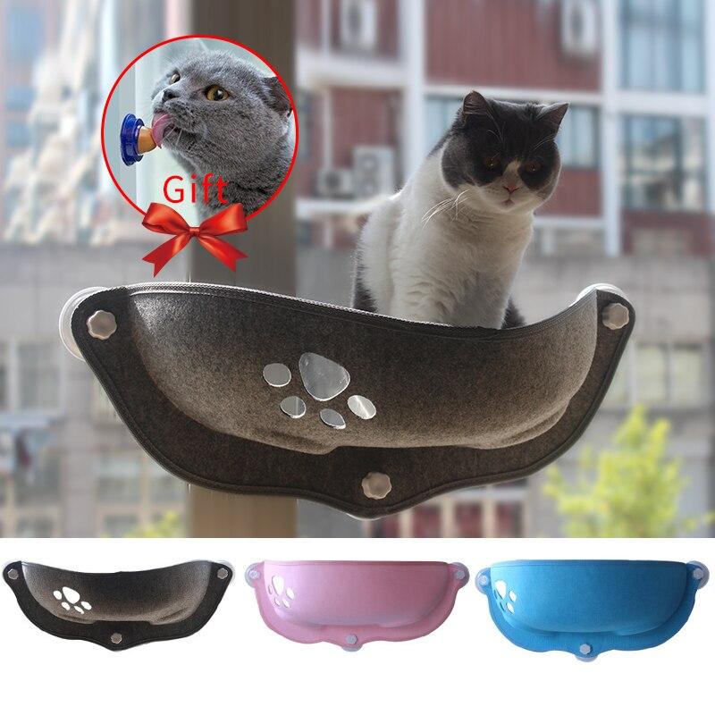 Venda quente Pet Camas Rede Rolamento 20kg Gato Janela Espreguiçadeira de Sucção prateleira Janela Rede Gato de Estimação Gato Confortável Furão cama para animais de estimação