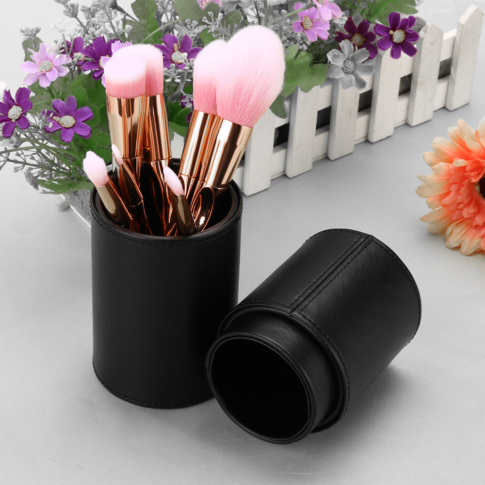 Tube Makeup Brushes Kit For And Leather Natural Duos Bucket Tool Rod Case Cube Travel Organizer Cosmetics Box Bags In Brand