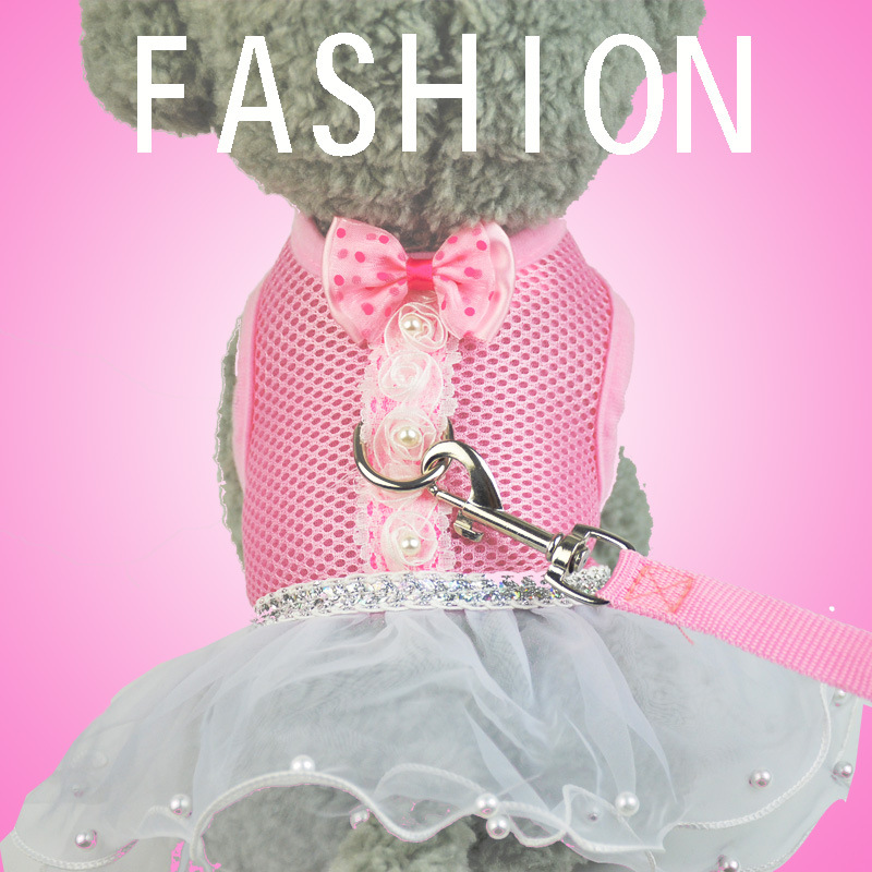 Dog Breathable Chest And Back Pet-Style Formal Dress Dog Tutu Chest And Back Haulage Rope Package
