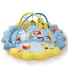 Four Colors Bear Baby Game Blanket  Big Soft Velvet Fabric Crawling Blanket Crawling Mat Toy Pink Blue  Orange Green  Toys