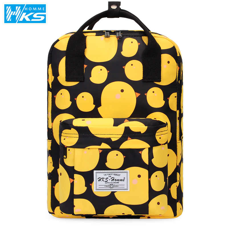Women Hot Canvas Backpacks Candy Color Waterproof School Bags for Teenagers Girls Laptop Backpacks Printing Backpack New 2019