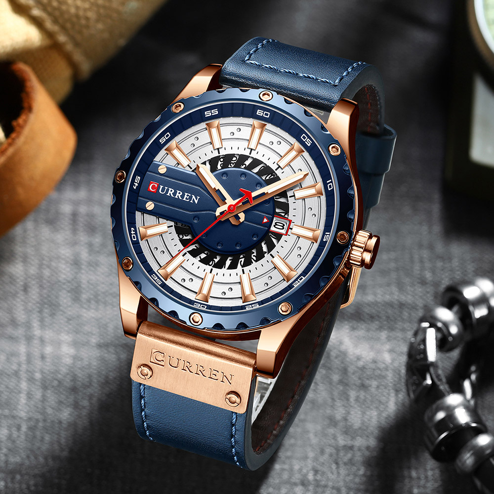 H70d79e53f831458a8582290fc7b35a43c CURREN Watch Wristwatch  New Chic Luminous hands