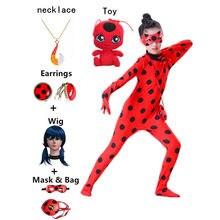 Костюм для косплея девочки Redbug Reddy Детский костюм на Хэллоуин для детей ролевая игра Черный кот Ноэль красный жук комплект одежды для девочк...