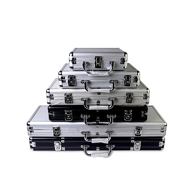 Hot Size Of 100-500 Casino Texas Poker Chips Capacity Suitcase Black Jack Container Case/Box Aluminum Suitcase