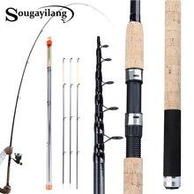Sougayilang Portable 3.0 3.6m Feeder Fishing Rod L M H Power Spinning Casting Fresh Water Travel Rod De Pesca Carp Feeder pole