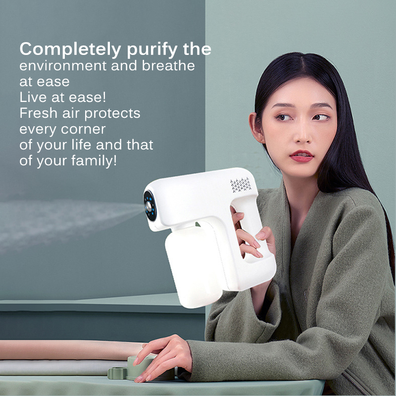 12V Smoke Machine Stage Fogger 400mL Nano Disinfection Steam Gun Water Mist Sprayer For Car Indoor Home DJ Disco Music KTV-3