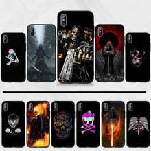 Skull flower Reaper Skeleton horror Coque Shell Phone Case For iphone 5 5s 5c se 6 6s 7 8 plus x xs xr 11 pro max(China)