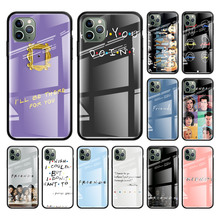 Friends Tv Tempered Glass Mobile Case For Apple iphone 11 Pro Max XS XR X 8 7 6 6S Plus SE 2020 Coque Bags