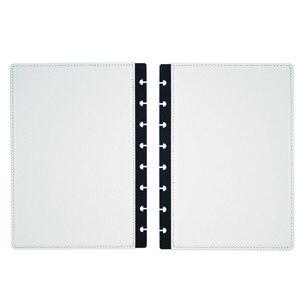 Image 4 - Fromthenon A5 버섯 Discbound 노트북 가죽 커버 8 구멍 느슨한 잎 나선형 플래너 바인딩 커버 사무실 학교 편지지
