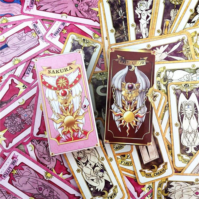 1 conjunto anime cardcaptor sakura clow cartão cosplay prop kinomoto sakura cartão captor sakura cartões tarô