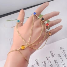 Infinite Power Glove Gauntlet Bracelets Bangles Gem Stone Pulsera for Women Girls Jewelry