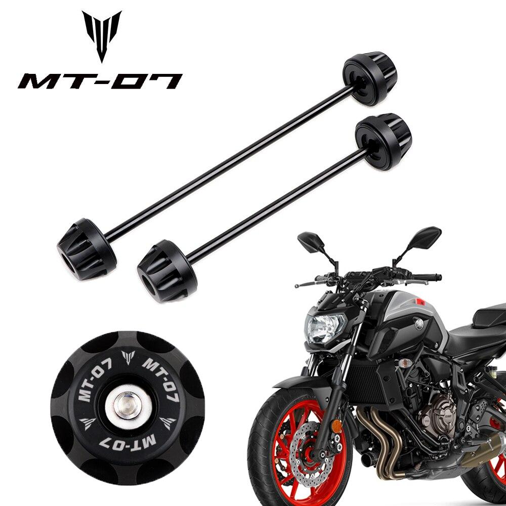 Передние и задние колеса вилы слайдер протектор для YAMAHA MT-07 MT07 MT 07 FZ-07 FZ07 2014-2020 MT-09 аксессуары для мотоциклов аварии ось